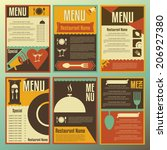 restaurant menu designs.... | Shutterstock .eps vector #206927380