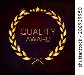 laurel wreath award | Shutterstock .eps vector #206939950
