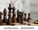 king  pawn and other figures on ... | Shutterstock . vector #206944969