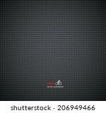carbon metallic textures... | Shutterstock .eps vector #206949466