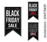 black friday sale banner design ... | Shutterstock .eps vector #206978839
