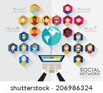 social networking people... | Shutterstock .eps vector #206986324
