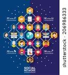 social networking people... | Shutterstock .eps vector #206986333