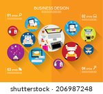 creative business and office... | Shutterstock .eps vector #206987248