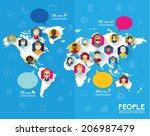 creative social networking... | Shutterstock .eps vector #206987479