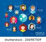creative social networking... | Shutterstock .eps vector #206987509