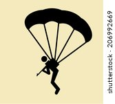 parachute vector    Shutterstock .eps vector #206992669