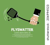Flyswatter In Hand Vector...