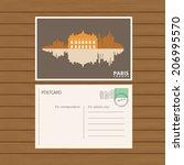 postcard. vector illustration   Shutterstock .eps vector #206995570