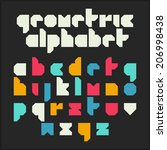 geometric alphabet. font design ... | Shutterstock .eps vector #206998438