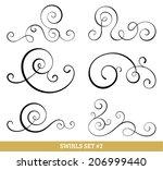 set of six vector flourish... | Shutterstock .eps vector #206999440