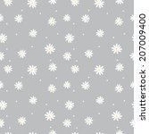 Seamless Pattern Daisy On A...