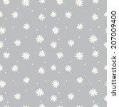Seamless Pattern Daisy On A...