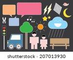 dashed line graphic art | Shutterstock .eps vector #207013930