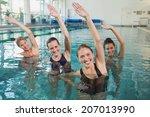 smiling female fitness class... | Shutterstock . vector #207013990