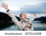 beautiful happy young woman... | Shutterstock . vector #207014308
