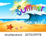 illustration of a view of... | Shutterstock .eps vector #207019978