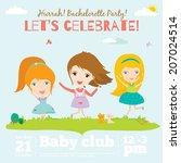 unusual vector happy birthday...   Shutterstock .eps vector #207024514