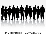 people silhouettes | Shutterstock .eps vector #207026776