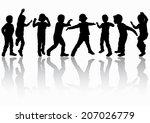 boys silhouettes | Shutterstock .eps vector #207026779