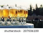party background. champagne in... | Shutterstock . vector #207036100