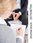 female psychologist making... | Shutterstock . vector #207038704