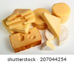 cheese assortments. still life. | Shutterstock . vector #207044254