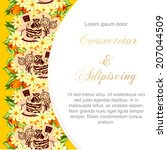 wedding invitation cards with... | Shutterstock .eps vector #207044509