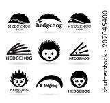hedgehogs  1  | Shutterstock .eps vector #207045400