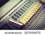 Closeup Vintage Jukebox Button