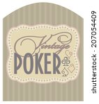 casino vintage poker label ... | Shutterstock .eps vector #207054409