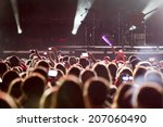 people recording a concert with ... | Shutterstock . vector #207060490