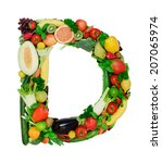 letter made from fresh... | Shutterstock . vector #207065974