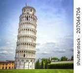leaning tower of pisa in... | Shutterstock . vector #207066706