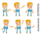 set of mechanic character in...   Shutterstock .eps vector #207090526