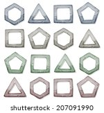 stone squares  triangles and...