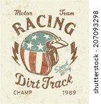 Dirt Track Racing    Vector...