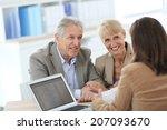 senior couple meeting financial ... | Shutterstock . vector #207093670