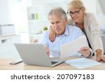 senior couple doing the income... | Shutterstock . vector #207097183