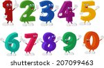 funny numbers cartoon characters | Shutterstock .eps vector #207099463