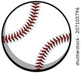 baseball | Shutterstock .eps vector #207105796