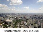 landscape of  bangkok city from ...   Shutterstock . vector #207115258