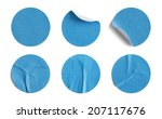 blank circle retail tags... | Shutterstock . vector #207117676