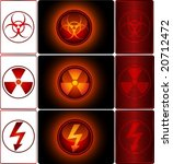 set of warning signs   vector | Shutterstock .eps vector #20712472