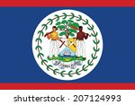 flag of belize. vector.... | Shutterstock .eps vector #207124993