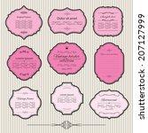 elegant frame set. calligraphic ... | Shutterstock .eps vector #207127999