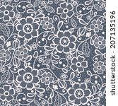 seamless lace floral background | Shutterstock .eps vector #207135196
