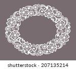 template frame  design for card.... | Shutterstock .eps vector #207135214