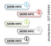 vector more info buttons with... | Shutterstock .eps vector #207140464