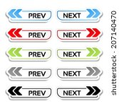vector prev  next buttons with...   Shutterstock .eps vector #207140470
